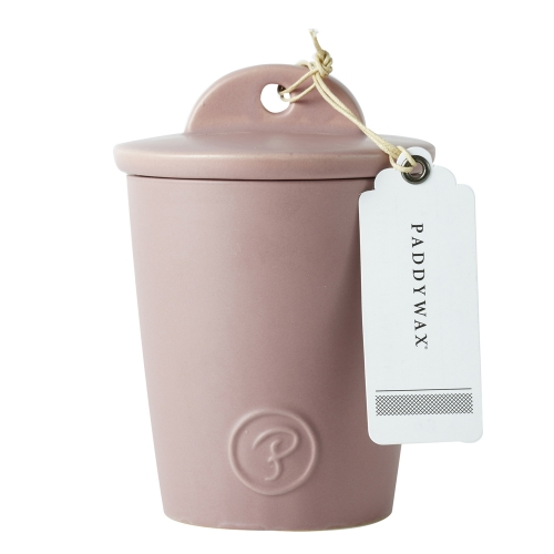 Provisions 8oz Ceramic with Lid Pink Strawberry Balsamic