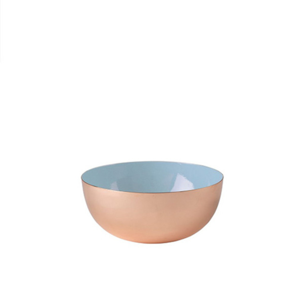 Metal Bowl Enamel (Porcelain Blue)