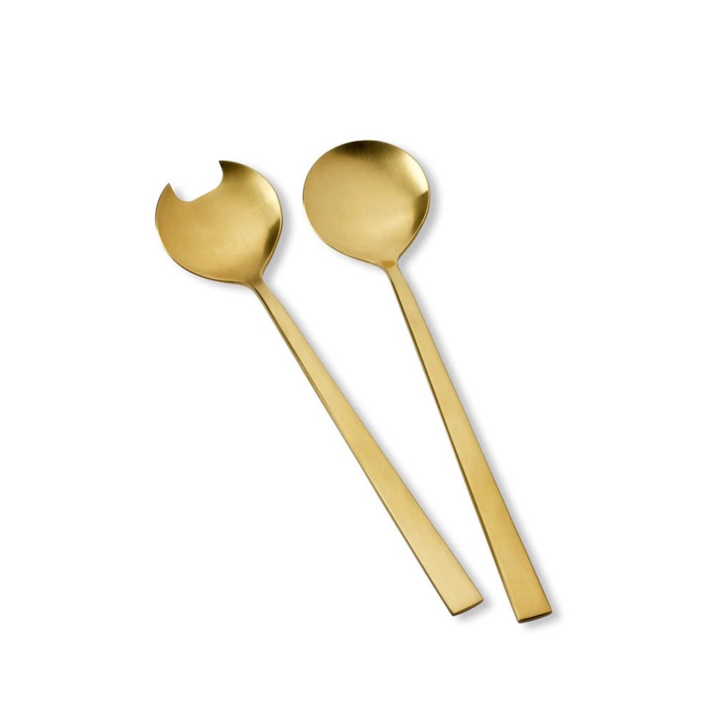 Bitz Brass Salad Servers