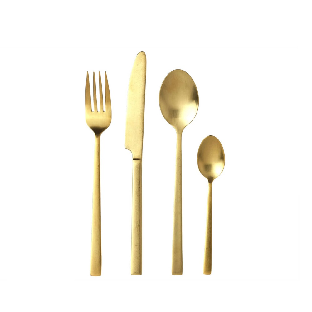 Bitz Brass Cutlery Set - 16pcs