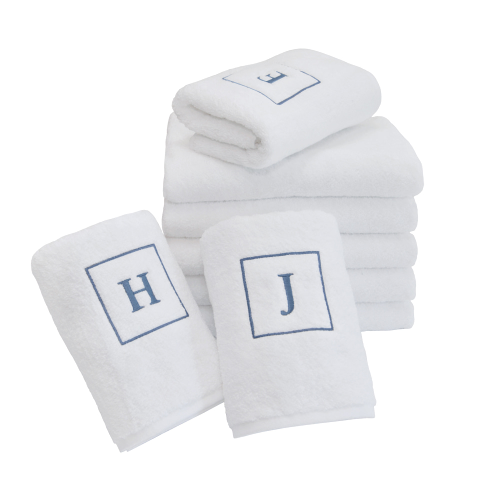 Initial Face Towel - Blue