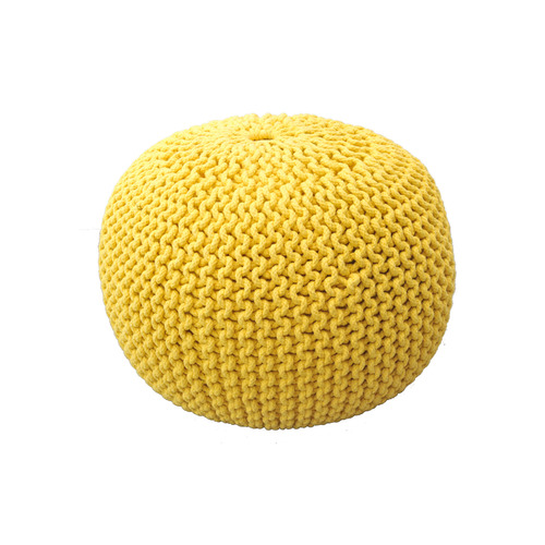 Knit Stool Yellow
