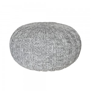 Cotton Knit Pouf