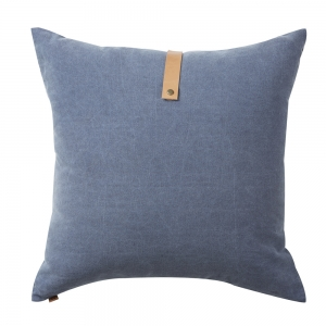 Washed Oxford Cushion Strap (60x60 / Blue)