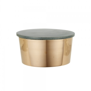 Copper Canister with Stone Lid (Small)