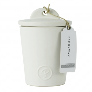 Provisions 8oz Ceramic with Lid White Salted Caramel