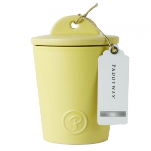 Provisions 8oz Ceramic with Lid Yellow Lemon Coconut
