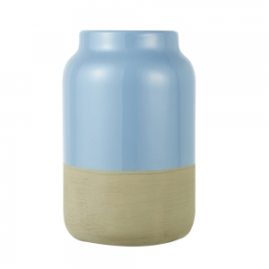 Vase Raw (Dusk Blue / Small)