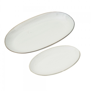 Plate Oval Nordic Sand