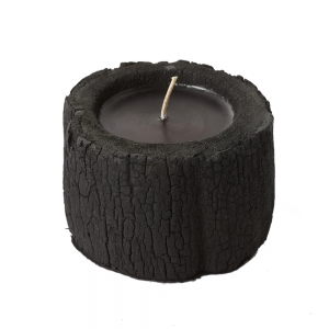 Log Candle Charcoal (Black / Small)