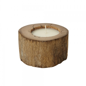 Log Candle Natural (White / Small)