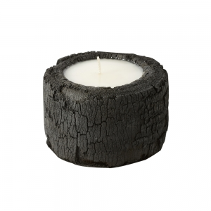 Log Candle Charcoal (White / Small)