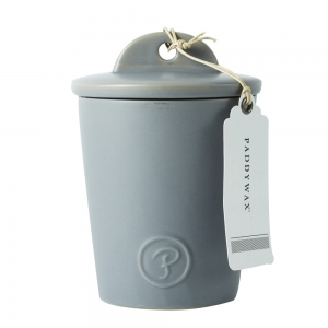 Provisions 8oz Ceramic with Lid Grey Fig&Olive
