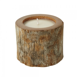 Log Candle Natural (White / Large)