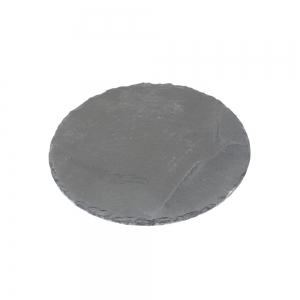 Candle Plate Round Slate (Small)
