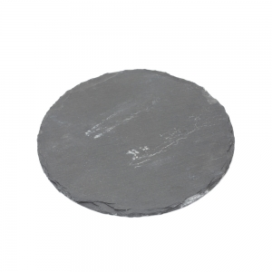 Candle Plate Round Slate (Large)