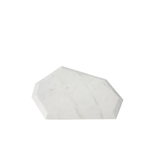 Feceted Marble Serving Boards