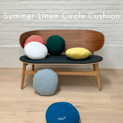Summer Linen Circle Cushion