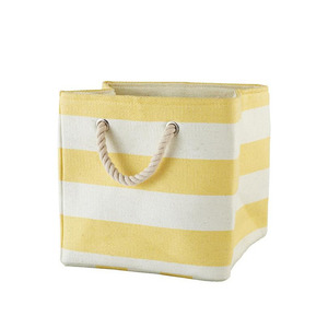Stripe cube Bin Yellow