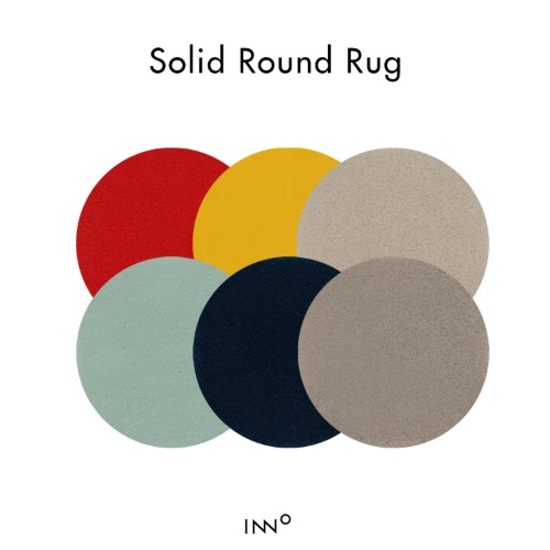 F/W Solid Round Rug