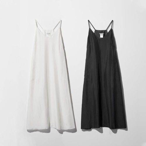 PREORDER SILK LONG SLEEVELESS DRESS